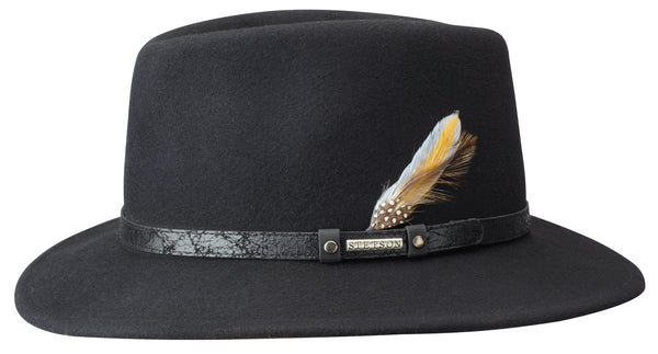 Stetson 2528014 Rutherford Fedora Hat (Black)