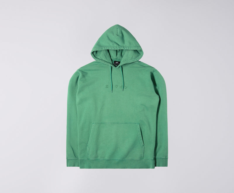 Edwin Katakana Hooded Sweatshirt (Frosty Spruce)