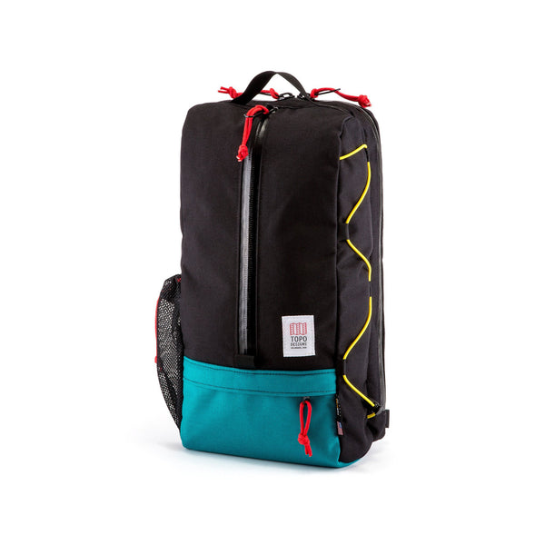 Topo Designs Sling Bag (Black/Turquoise)