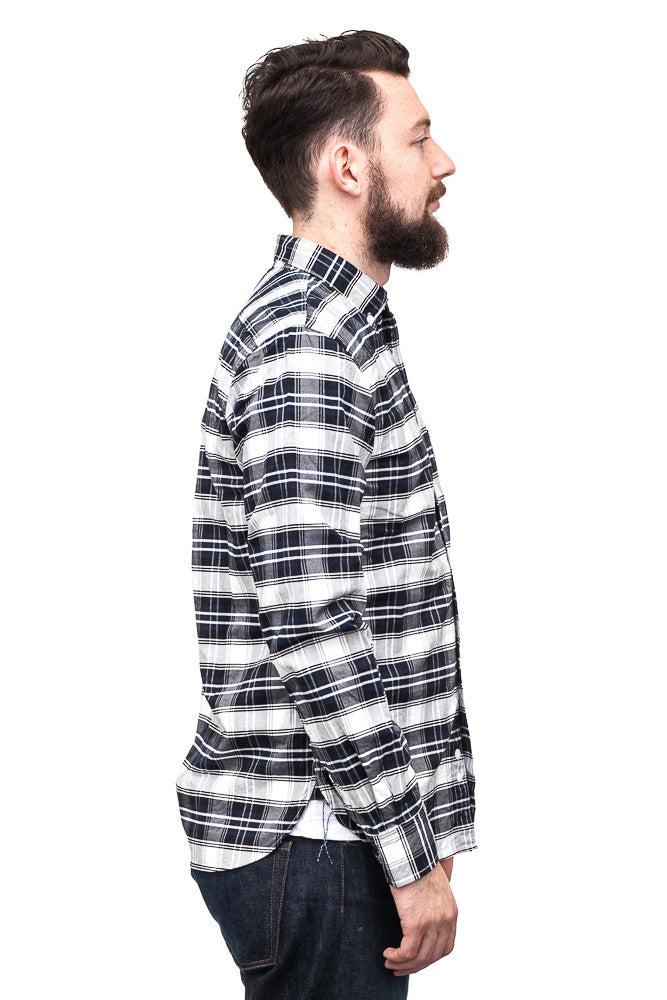Spellbound 46-073X Checkered Oxford Shirt Navy