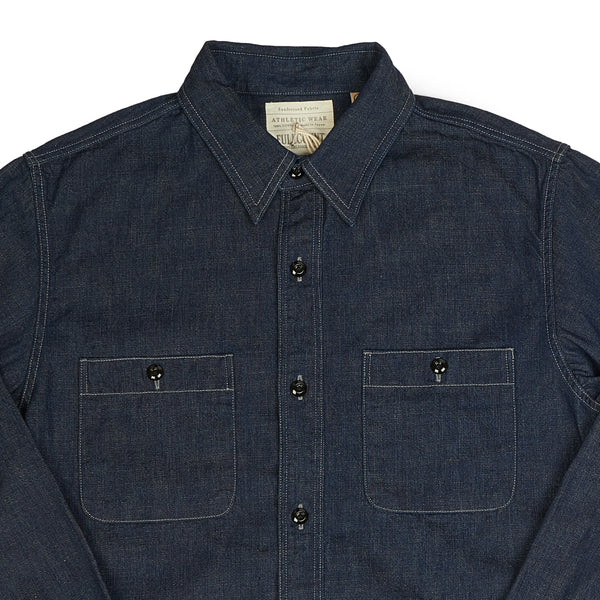 Full Count 4890 Denim Work Shirt (Rinsed)