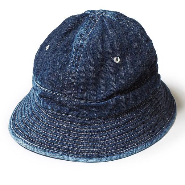 Warehouse Brown-Duck Digger 5200 Daisy Mae Denim Hat (Mid Wash)