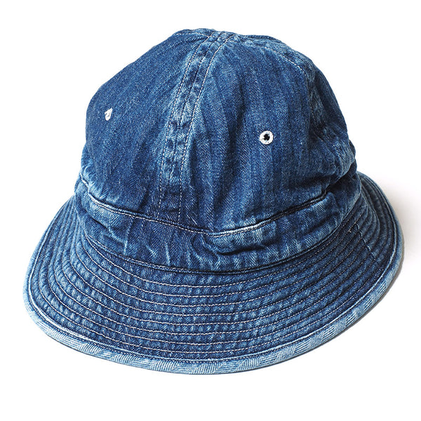 Warehouse Brown-Duck Digger 5200 Daisy Mae Denim Hat (Heavy Wash)
