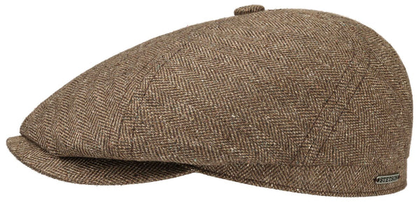 Stetson 6642502-367 6 Panel Silk/Cotton Flat Cap (Brown)