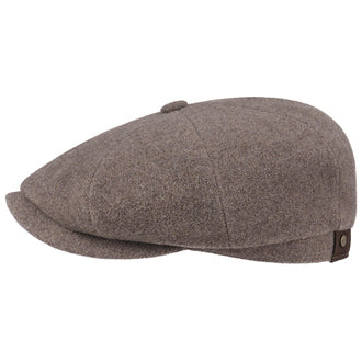 Stetson 6840101-67 Hatteras Wool/Cashmere Flat Cap (Light Brown)