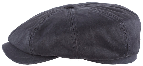 Stetson 6841102-1 Hatteras Cotton Flat Cap (Black)