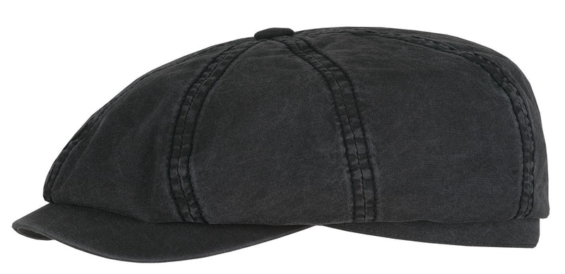 Stetson 6841106-1 Hatteras Cotton Flat Cap (Black)