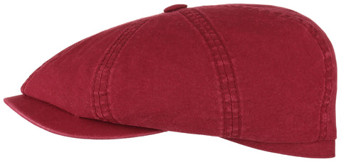 Stetson 6841106 Hatteras Delave Cotton Flat Cap (Red)
