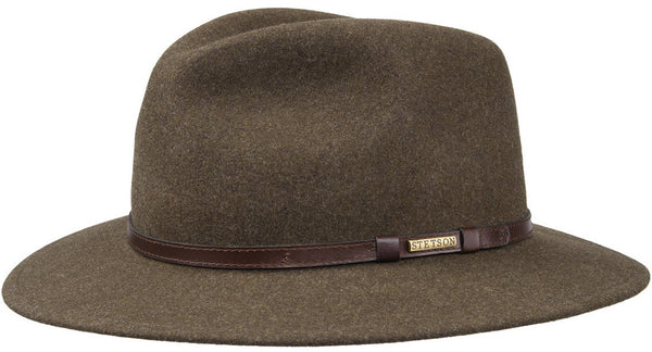 Stetson 2528003-62 Newberg Traveller Hat (Brown)