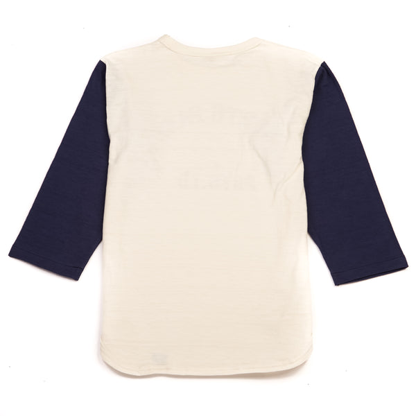 Warehouse 4800 North Park Baseball Tee (Cream/Navy)