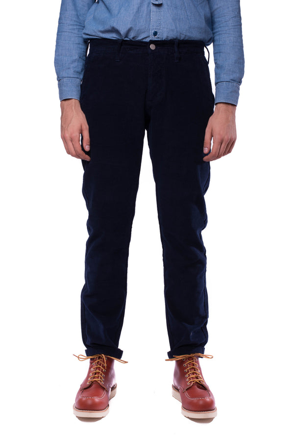 Edwin 55 Corduroy Chino (Dark Indigo Garment Washed)