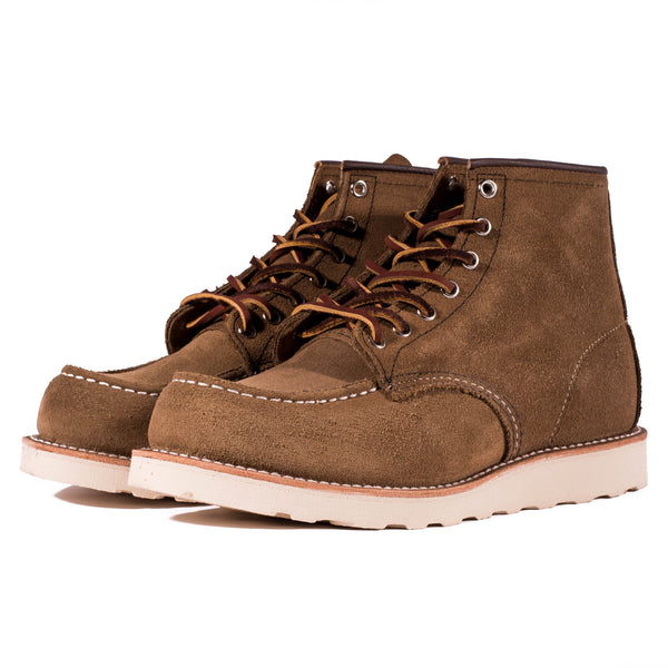 "Red Wing 8881 6"" Moc Toe Boots (Olive Suede)"