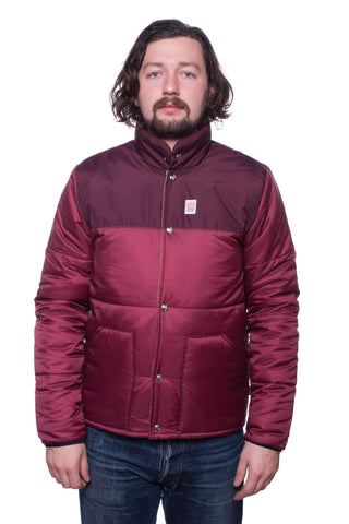 Topo Designs Puffer Jacket (Burgundy)