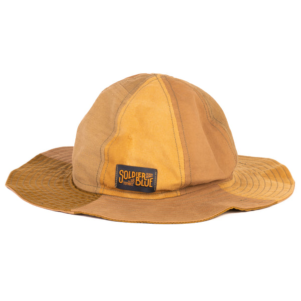 Soldier Blue Brick Lane Booner Hat (Sand Multi-Panel)