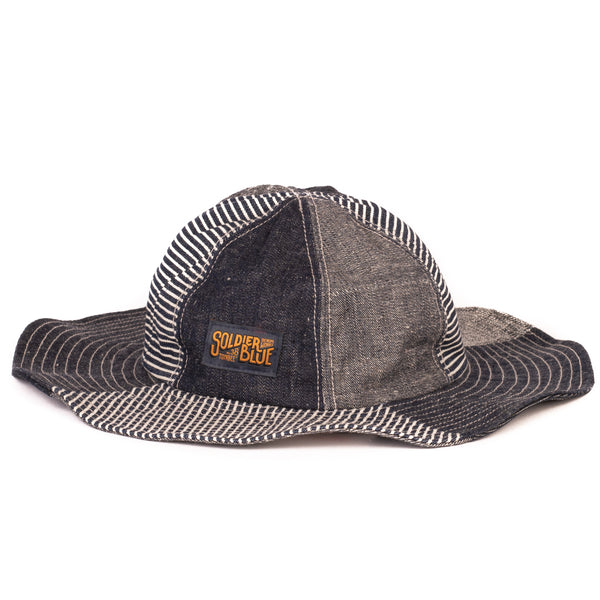 Soldier Blue Brick Lane Booner Hat (Hickory Multi-Panel)