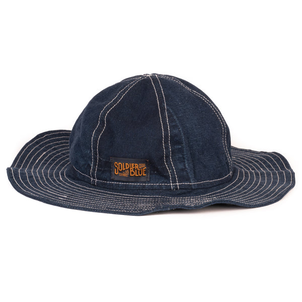 Soldier Blue Brick Lane Booner Hat (Rinsed Denim)