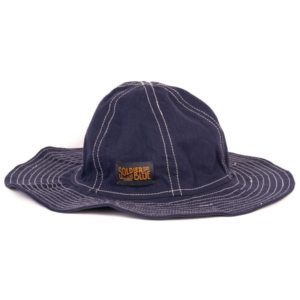 Soldier Blue Brick Lane Booner Hat (Blue Work Wear)