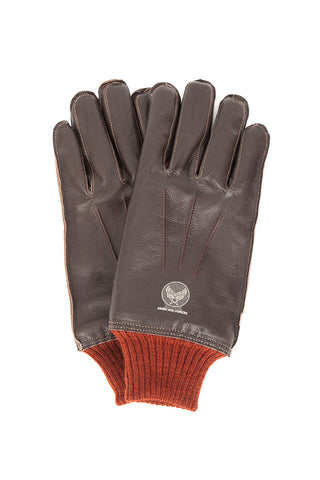 Buzz Rickson's Type A-10 Flying Gloves Brown
