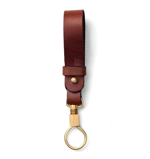 Tanner Goods Key Ring Lanyard Chicago Tan