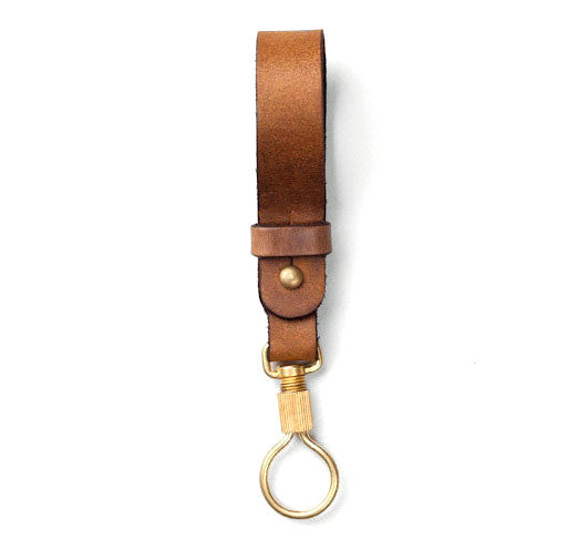 Tanner Goods Key Ring Lanyard Rich Moc