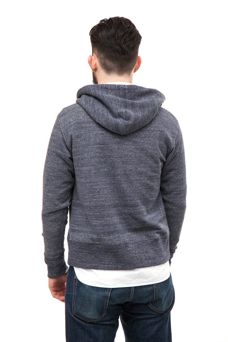 Spellbound 48-497N Loopwheel Hooded Sweatshirt Blue Melange