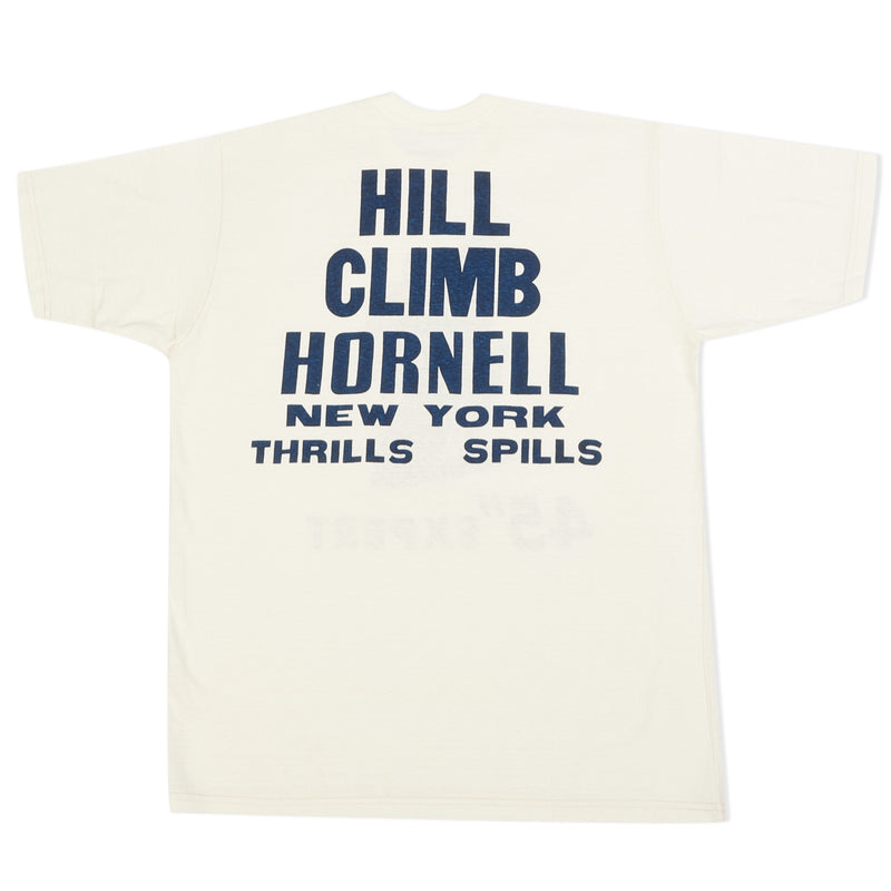 Freewheelers Power Wear 1935 Hill Climb Race Print Tee (Off White)