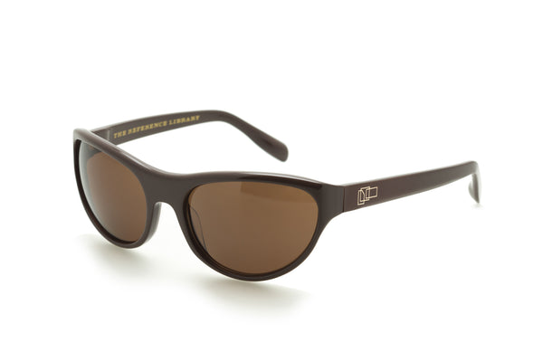 The Reference Library Gene Brown Sunglasses (Brown)
