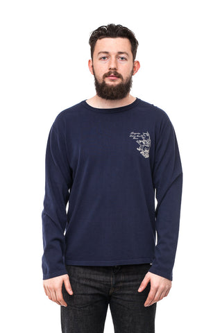 Studio D'artisan Long Sleeve Tee Navy