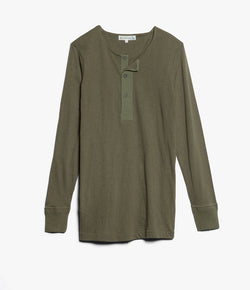 Merz b. Schwanen 102 Button Border Shirt (Army)