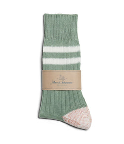 Merz b. Schwanen B75 Stripe Socks (Light Army/White)
