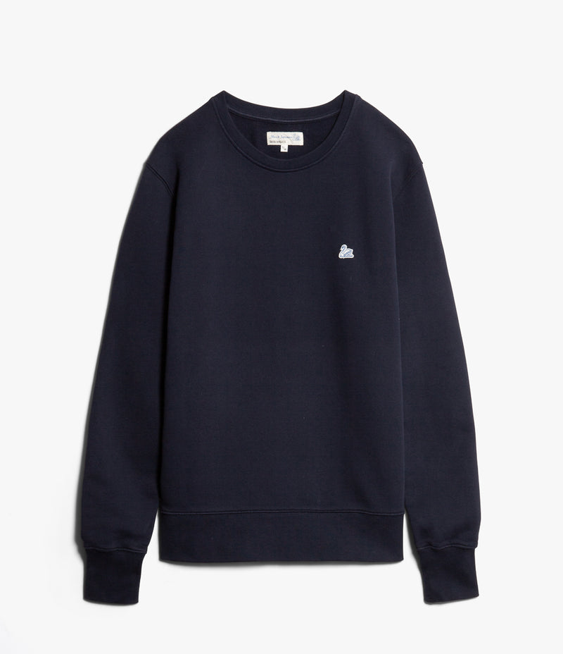 Merz b. Schwanen CSW02 Good Basics Crew Neck Sweatshirt (Deep Blue)