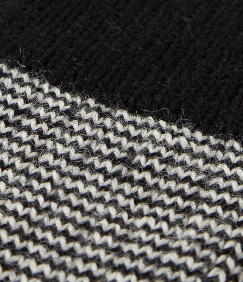 Merz b. Schwanen S78 Fine Striped Wool Sock (Deep Black/Nature)