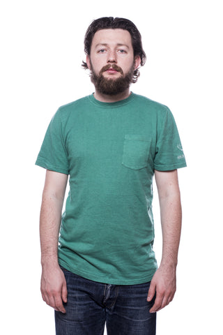 Jungmaven Baja SS Pocket 7oz Print T-Shirt Basil Green