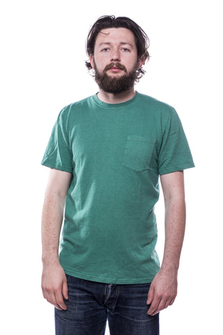 Jungmaven Baja SS Pocket 7oz T-Shirt Basil Green