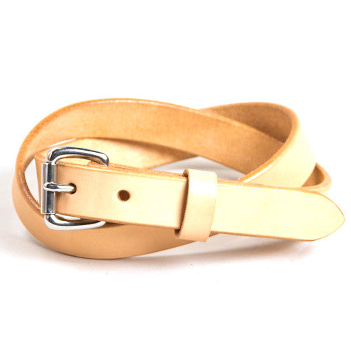 Tanner Goods Skinny Belt Natural