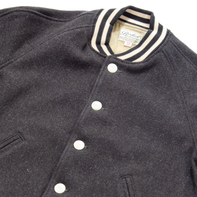 Warehouse 2134 All Melton Award Jacket (Charcoal)