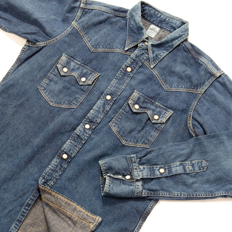 Warehouse 2nd Hand Denim Western Shirt (Used Wash)