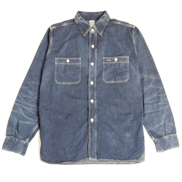 Warehouse 2nd Hand Denim Work Shirt (Used Wash)