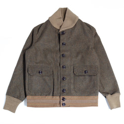 Warehouse 2133 Wool A-1 Jacket (Olive Drab)