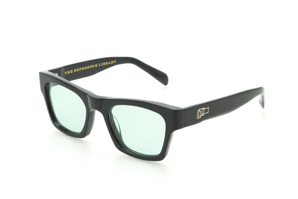 The Reference Library Eddie Black Sunglasses (Pale Green)