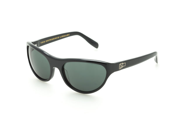 The Reference Library Gene Black Sunglasses (Black)