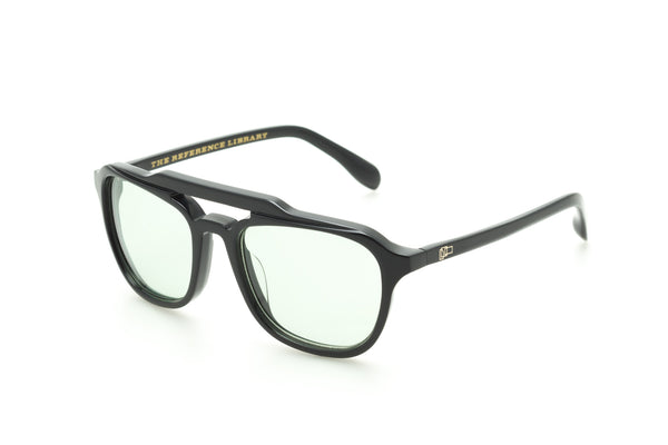 The Reference Library Mickey Black Sunglasses (Pale Green)