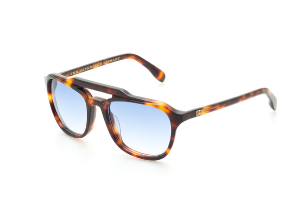 The Reference Library Mickey Tortoiseshell Sunglasses (Blue Fade)