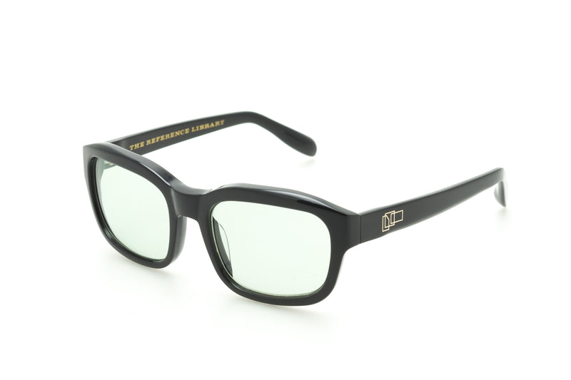 The Reference Library Serge Black Sunglasses (Pale Green)