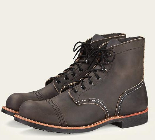 "Red Wing 8086 6"" Iron Ranger Boot (Charcoal Rough & Tough)"