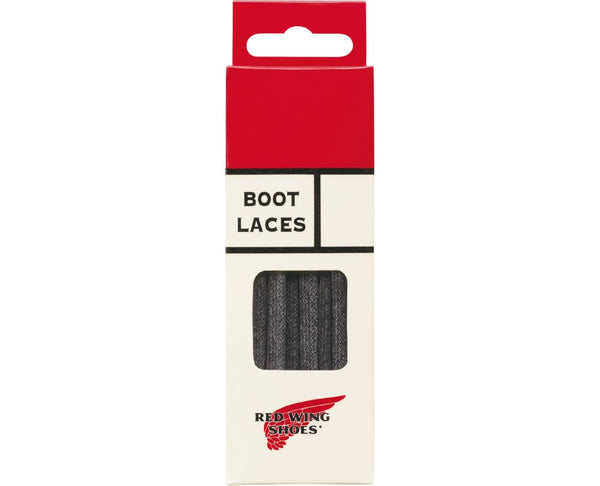 Red Wing Flat Waxed Laces (Black)