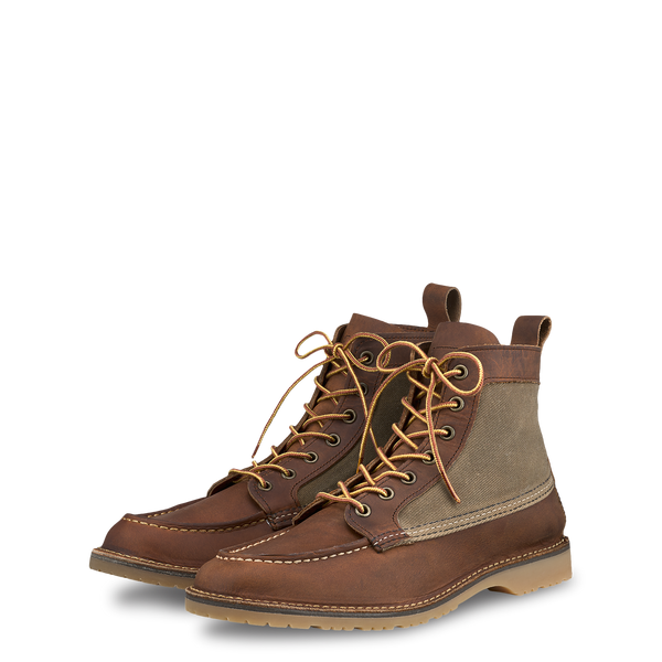 "Red Wing 3335 Wacouta 6"" Canvas Moc Boot (Copper Rough & Tough)"