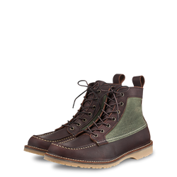 "Red Wing 3336 Wacouta 6"" Canvas Moc Boot (Briar Oil Slick)"