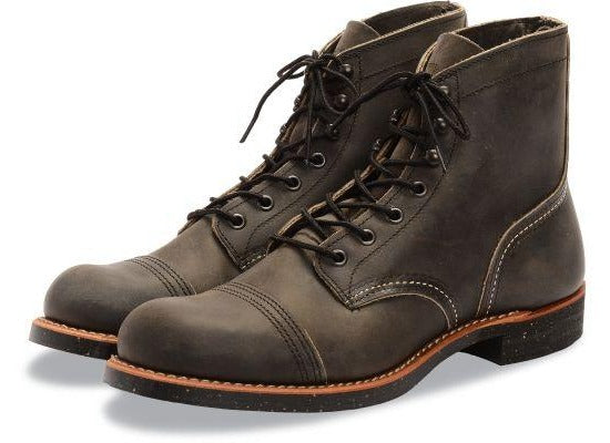"Red Wing 8116 6"" Iron Ranger Boots (Charcoal Rough & Tough)"