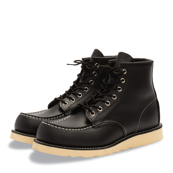Red Wing 8130 Moc Toe Boots (Black Chrome)